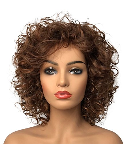 (Wiginway Women Wigs Medium Curly Brown Wigs Synthetic Wig Hair Replacement Rapunzel Wigs For Women 8)