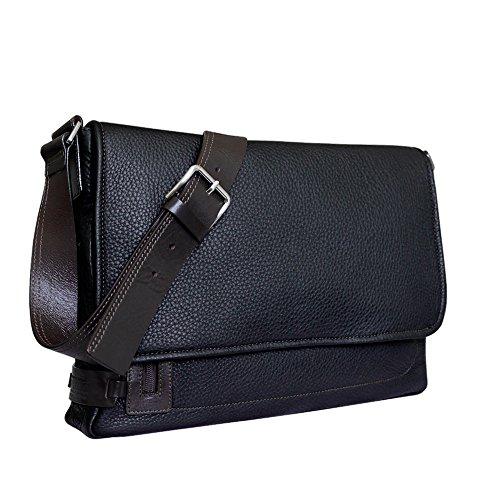 bandoulière marron Style City en Noir Sac cuir Chiarugi italien à PvIwaxdq