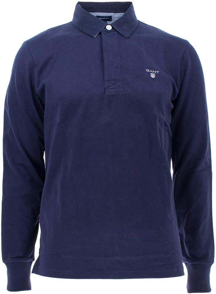 GANT The Original Heavy Rugger Suéter pulóver, Azul Tarde, M para ...
