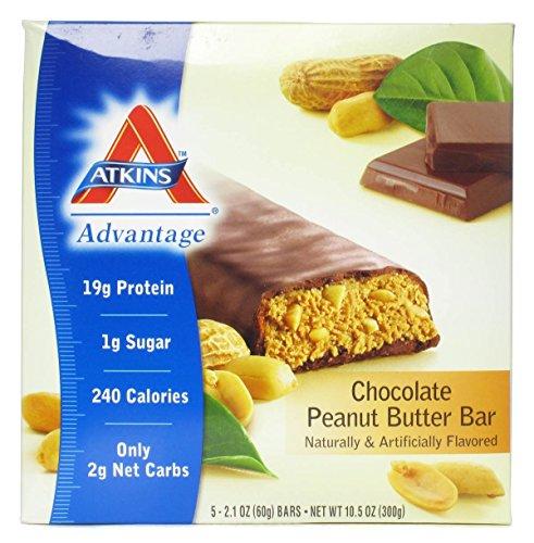 (Atkins Advantage Chocolate Peanut Butter Bar 5/2.1 oz (60 grams) Bar(S))