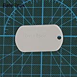 FINCOS Military Army Identity tag,BateRpak Dog Tags Stainless Steel Plate,Pet ID tag Jewelry Pendants & Necklaces,50.328.30.4mm