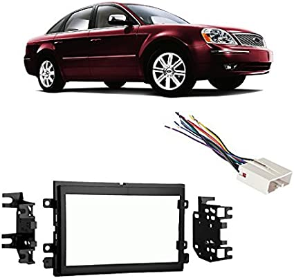 compatible with ford five hundred 05 07 double din stereo harness radio install dash kit ford f150 radio wiring harness diagram ford five hundred parts partsgeek com