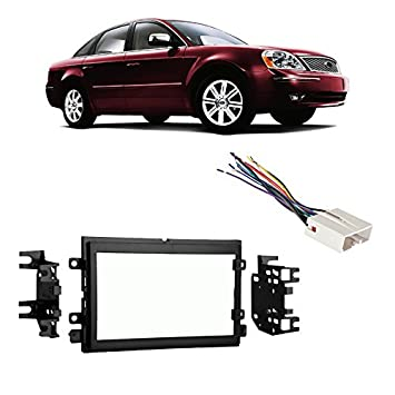 51F2Opjm8DL._SY355_ amazon com fits ford five hundred 05 07 double din stereo harness  at nearapp.co