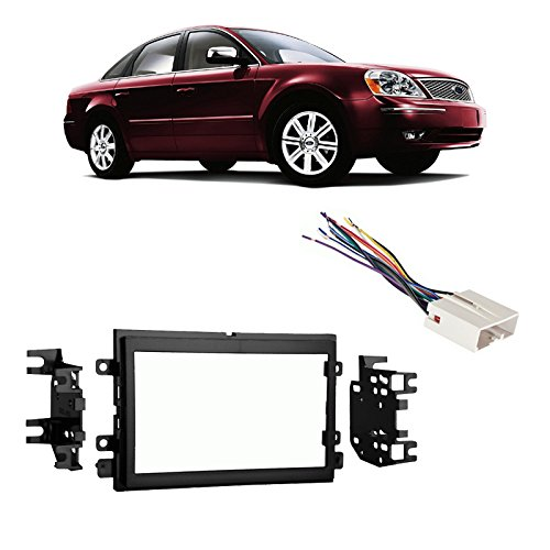 Fits Ford Five Hundred 05-07 Double DIN Stereo Harness Radio Install Dash Kit