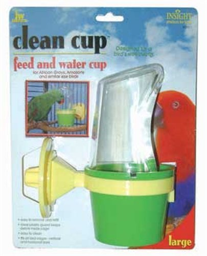 JW Pet Company Clean Cup Feeder and Water Cup Bird Accessory, Large by Petmate