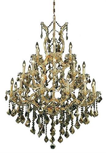 Karla Gold Traditional 28-Light Grand Chandelier Heirloom Handcut Crystal in Golden Teak -2380D38G-GT-RC--5