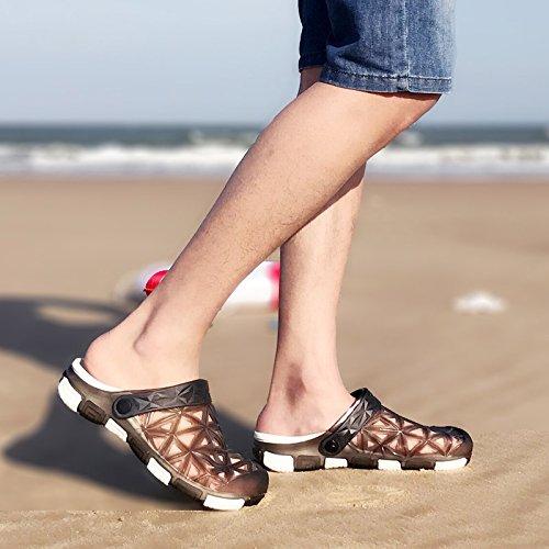 Zapatillas Verano Playa fankou Negro B Macho Cool Antideslizante Fondo Baotou de Corrientes Suaves de Masculino 41 Pantuflas Zapatillas dfwfqtE
