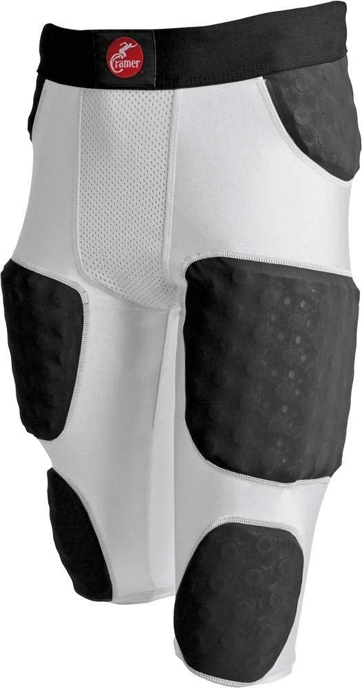 Cramer Hurricane 7 Pad Football Girdle, with Thigh, Hip and Tailbone Pads, Football Pants with Foam Padding for Extra Protection, Football Practice Gear with Integrated Girdle