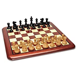 WE Games Grand Staunton Redwood Chess Set - Weighted Pieces & Redwood Board 19 in.