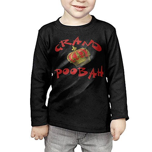 Jeweled Logo Long Sleeve T-shirt (Kids Style Grand Poobah With Crown Products Long Sleeve Tee)
