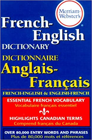Amazon Merriam Websters French English Dictionary Newest