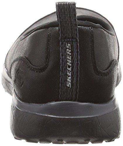 Skechers Microburst Black Nero Donna Ballerine Lightness Bbk Punta Chiusa rrxFwq