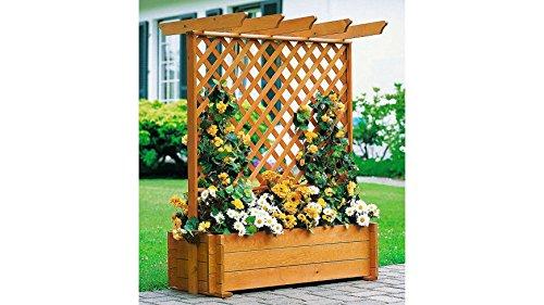 PROMADINO Holzspalier Pergola mit Rankkasten, 102x140 cm 1 Stk., 140 cm