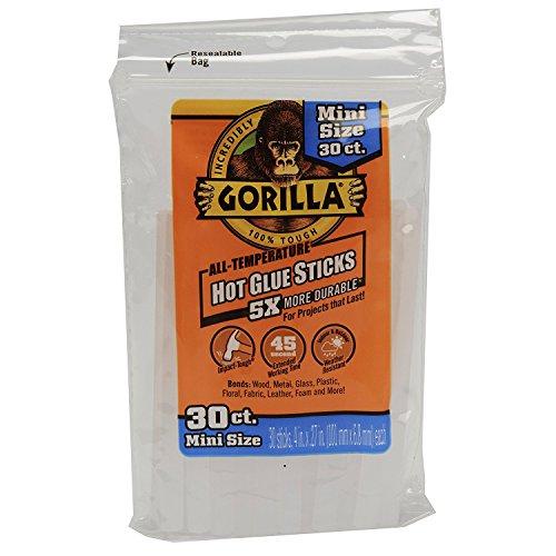 Gorilla 3023003 Hot Glue Sticks 4 In. Mini Size, 30Count (6 pack) by Gorilla Glue