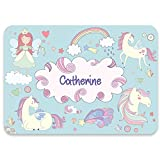 Paper Themes Personalised Placemat for Kids - Unicorn Dreams