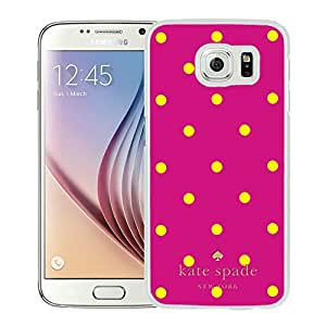Kate Spade 37 White Samsung Galaxy S6 Screen Cellphone Case Fashion and Unique Style