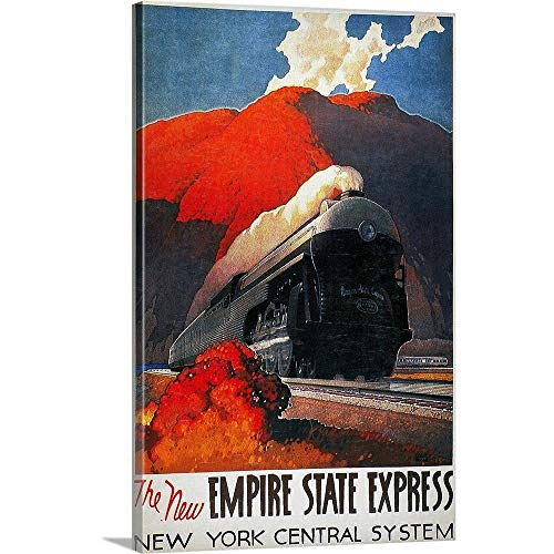 Great Big Canvas Gallery-Wrapped Canvas Entitled American Train Poster, The New Empire State Express 16