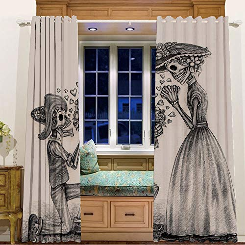 iPrint Rings top Window Panels Blackout Curtains for Kids Room 2 Curtain Panels,105