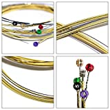 Professional Acoustic Guitar String Set Strong Durability Hexagonal Core Bronze Bright Tone String For Guitar Players