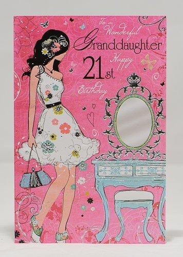 Granddaughter Happy 21st Birthday Card