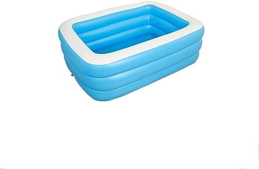 LYM & bañera Plegable Baño de bañera Inflable Bañera de Cuerpo Completo Baño de Cubo Redondo PVC Home Adult Insulation Children Piscina Desmontable (Size : 185 * 135 * 55cm): Amazon.es: Hogar