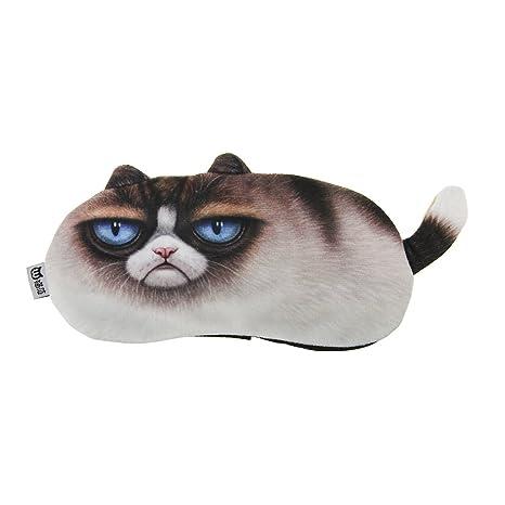 Divertida Gatos patrón Máscara Dormir Ojo Máscara Gafas de dormir caliente Cojín de noche con compresa