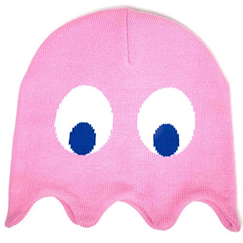 Pac Man Beanie Hat Pinky Inspired Retro Gamer Official Pink