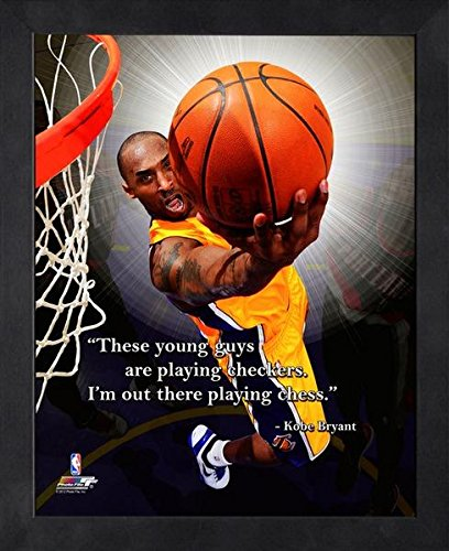 Pro Photo 16x20 Bowl (Kobe Bryant L.A. Lakers NBA framed Pro Quotes 16x20)
