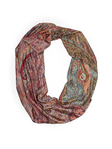 Bohomonde Rajana Infinity Scarf, Richly Colored Rare Pashmina Infinity, Palace