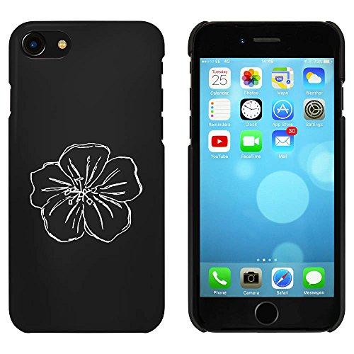 Noir 'Pensée Fleur' étui / housse pour iPhone 7 (MC00069681)
