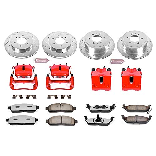 Power Stop KC1944A-36 Front & Rear Z36 Truck and Tow Brake Kit with - Brake F150 Ford Caliper