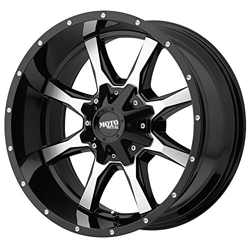 Moto Metal Rims (Moto Metal MO970 Gloss Black Wheel Machined With Milled Accents (17x8