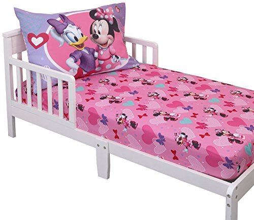 Disney Minnie Mouse Toddler Sheet Set (Mini Mouse Bed Set)