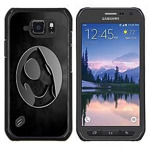 """For Samsung Galaxy S6 active / SM-G890 , S-type Cresta"""" - Arte & diseño plástico duro Fundas Cover Cubre Hard Case Cover"""