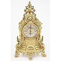 Reloj Barroco de mesa de latón brillante estante