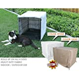 Midwest Life Stages 2-Door Dog Crate Cover Size: 36″, Color: Sand, My Pet Supplies