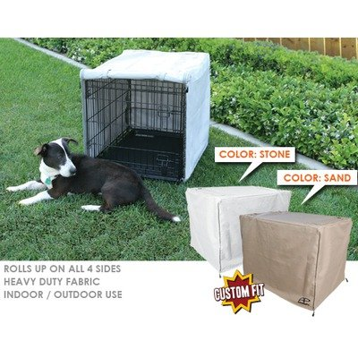 Midwest Life Stages 1-Door Dog Crate Cover Size: 42″, Color: Stone, My Pet Supplies