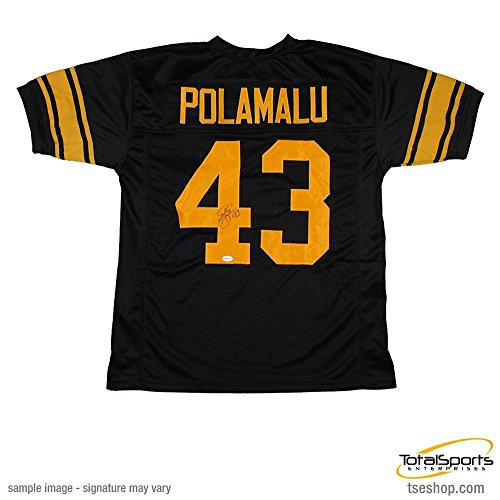 Troy Signed Jersey Polamalu (Troy Polamalu Autographed Custom 75th Anniversary Jersey)