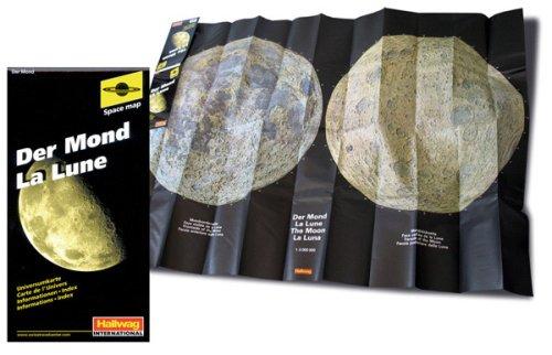Der Mond: Vorder- und Rückseite des Mondes. Infobroschüre mit Namenverzeichnis der Mondformationen