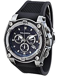 CALABRIA - TUONO - Blue Chronograph Mens Watch with Carbon Fiber Bezel