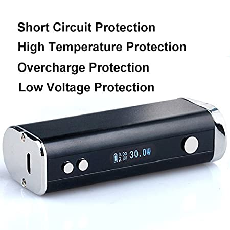 ConPush 40W BOARSE cigarrillo electrónico E cig Mod Kit de inicio, 2200mAh batería, recarga superior 2.5ml 0.5ohm Evaporador sin nicotina(negro,Pro): ...