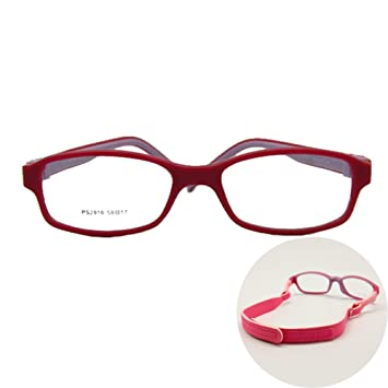 a8879929d8 Amazon.com  EnzoDate No Screw Teens Glasses Size 50 17 TR90 Silicone ...