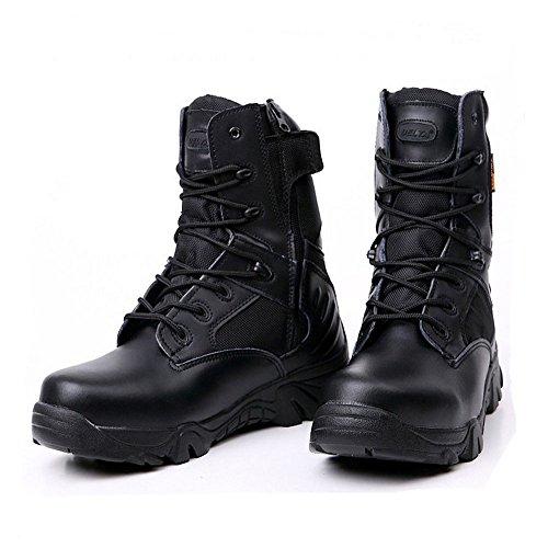 combate LiliChan Botas de hombres cremallera para negro militares táctico con w1T1xBtfqW