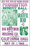 """The End of Marijuana Prohibition Benefit Ball with the Grateful Dead 14"""" X 22"""" Vintage Style Concert Poster"""