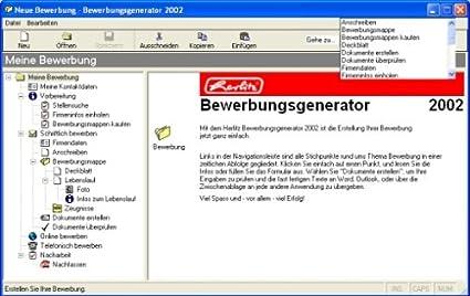 herlitz bewerbungs generator amazonde software - Bewerbung Generator
