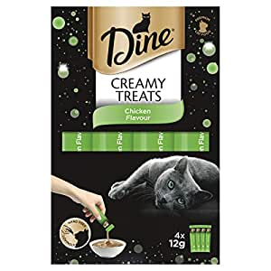 DINE Creamy Treats Chicken Flavour Cat Treats 12g, 32 Count