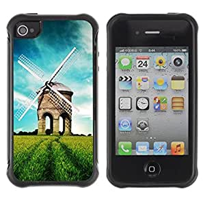 """Hypernova Defender Series TPU protection Cas Case Coque pour Apple iPhone 4 / iPhone 4S [Naturaleza Hermosa Forrest Verde 39""""]"""