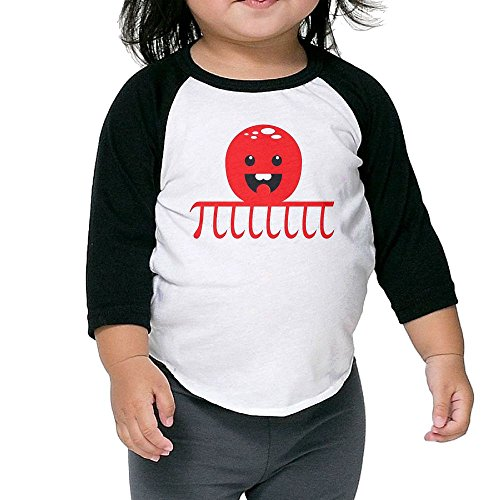 Price comparison product image Octopus Pi Sky Kid's Sleeve Raglan Clothes Unisex 2 Toddler Funny
