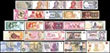 25 Banknotes Different Foreign,Currency, History