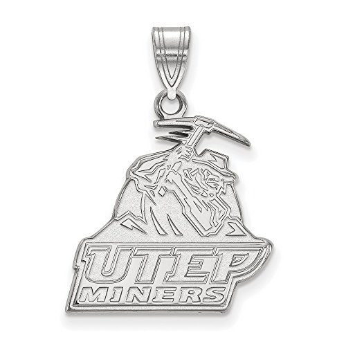 University Texas El Paso UTEP Miners Large Pendant in Sterling Silver 2.39 - Texas Paso El Sports In Stores